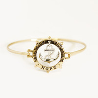 Gold Faith Dream Hope Bangle