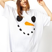 ASOS T-Shirt with Christmas Snowman