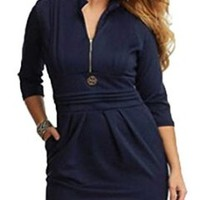 Women's Style 3/4 Sleeve Casual Party Cocktail Dresses
