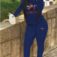 Adidas Women's Fashion Printed Sexy Sports Suit