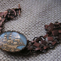 Wind in My Sails  Vintage bracelet rare sailing by RelicaJewelry