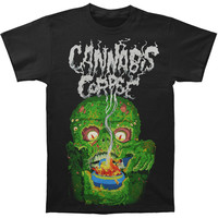Cannabis Corpse Men's  Bowl Of Fire T-shirt Black Rockabilia