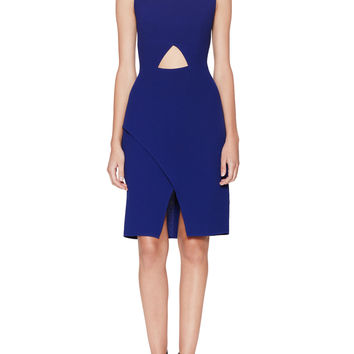 BCBGMAXAZRIA Women's Annabel Cut-Out Dress - Dark Blue/Navy -