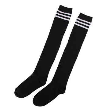 Women's Striped Thigh High Sexy Cotton Polyester Socks Over Knee Girl Lady Socks 4 Colors SM6