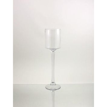 Tall Glass Cup Candle Holder Table Centerpiece, 18-Inch