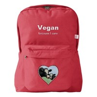 Holstein Cow & Calf Vegan Backpack