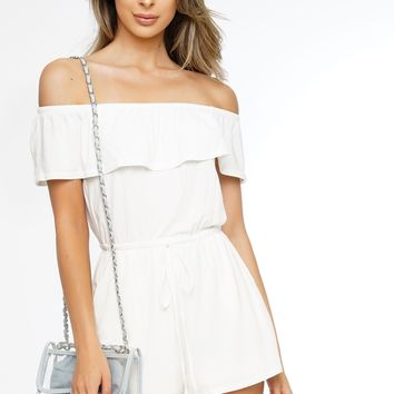 Rumors Romper - White