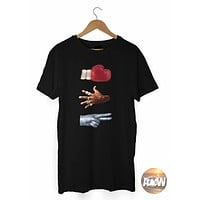 Rock Paper Scissors Mike Tyson Jackson Jordan Music Boxing NBA T Shirt