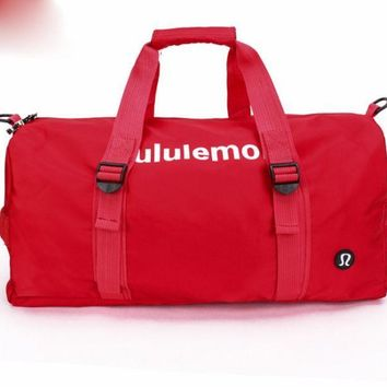 Lululemon sports bag swimming gym bag single shoulder bag, taekwondo bag.RED