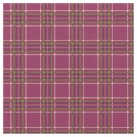 Magenta Green Tartan Plaid Pattern Fabric