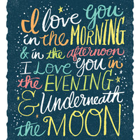 I LOVE YOU IN THE MORNING (color) Canvas Print by Matthew Taylor Wilson