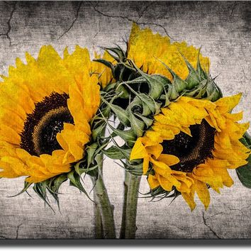 Sunflower Picture Made on Acrylic , Wall Art Decor Ready to Hang!.