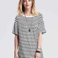 Striped Drapey Pocket Tee