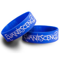 Rokk Bands Evanescence Logo wristband - embossed Logo - Rokk Bands UK