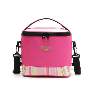 Premium 6L portable Personal Cooler  Lunch Bag Box   pink