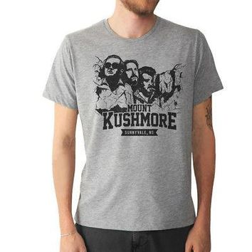 Trailer Park Boys Mount Kushmore Logo Licensed Adult Unisex T-Shirt - Grey - L