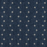 C634 Navy Blue And Beige Mini Flowers Country Style Upholstery Fabric By The Yard
