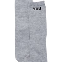 Free Press | Verbiage Short Crew Socks | Nordstrom Rack