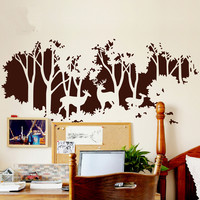 Deer art nursery wall decal