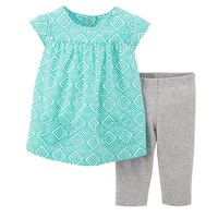 Carter's Geo Top & Leggings Set - Baby Girl, Size: