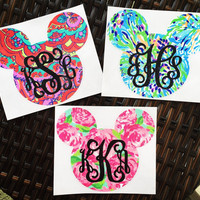 Disney Monogram Decal {Lilly Pulitzer-Inspired}