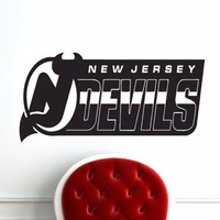 New Jersey Devils NHL Superbowl Wall Decal Gm1578 FRST