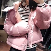Moncler Women Fashion Down Coat Cardigan Jacket