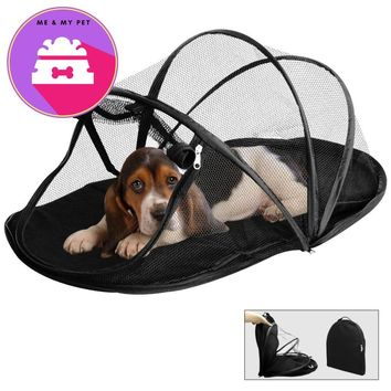 Hot Sale Foldable Dog House Pet Dog Bed Cat Bed House Dog Tent Travling Pet Tent Anti-mosquito Sleeping Bag Portable Pet Dome