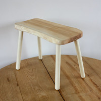 Wooden stool - Small portable wood bench for kitchen or living room - home gifts - ash furniture - step stool - little bench - housewarming