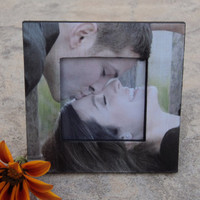 """Personalized Engagement Frame Custom Wedding Picture Frame, The Original & Unique """"Picture in Picture"""" Photo Frame"""