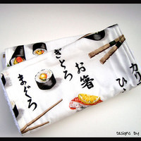 Sushi Burp Cloth Set - Set of 2 - Kanji, Chopsticks, Sushi
