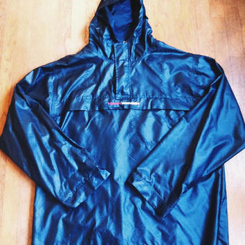 Vintage 1990's Tommy Hilfiger Hooded Raincoat Half Zip Jacket