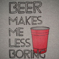 large girls beer less boring sexy cute emo new t shirt