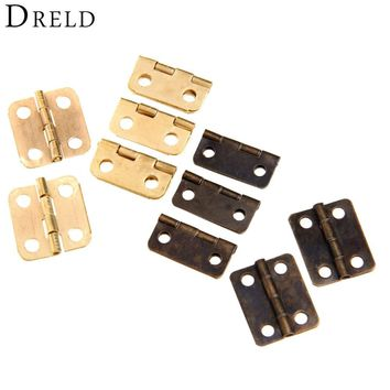 10Pcs Antique Bronze/Gold Cabinet Hinges Furniture Accessories Jewelry Boxes Small Hinge Furniture Fittings For Cabinets 16x13mm