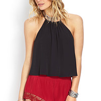Whimsical Cutout Halter Top