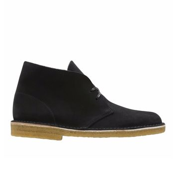 Clarks - Made in Italy Desert Boot - Black Suede