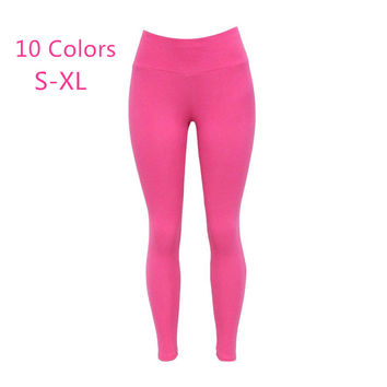 Plus Size 2016 Sexy Women Cotton Leggings High Waist Elastic Skinny Fitness Leggings Warm Girls Leggings leggins slim jeggings