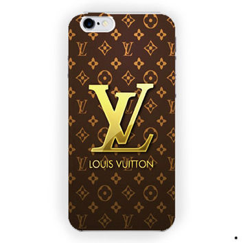 Louis Vuitton Gold Logo Design For iPhone from springboost