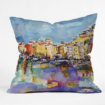 Ginette Fine Art Port Venere Italy 2 Throw Pillow