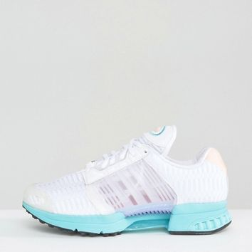 adidas Originals White And Aqua Climacool Sneakers at asos.com