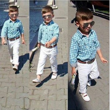 Boys Casual Evening 3 PC - Pants+Shirt+Belt