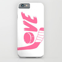 Love Hockey iPhone & iPod Case by LookHUMAN