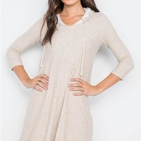 Knit Hooded Mini Dress