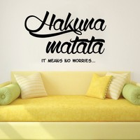Wall Decals Quotes Vinyl Sticker Decal Art Home Decor Murals Quote Decal Symbol Quote Wall Decal Hakuna Matata Fashion Bedroom Children Room Nursery Baby Kids Rooms AN358