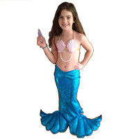 little girl's mermaid dress-up costume skirt tail with iridescent fishy scales. Made to order 0-11yrs