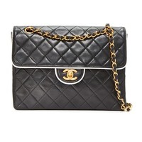 Chanel Piped Shoulder Bag (Previously Owned)