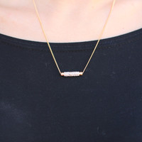 The Dash Gold Necklace