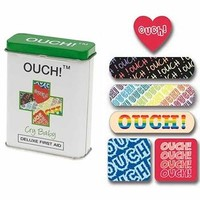 Ouch! Cry Baby Bandages With Five Styles in Collectible Tin, Fun & Unique Gifts