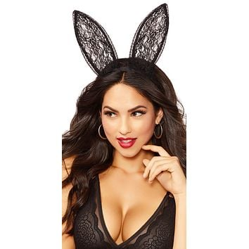 Sexy Playgirl Lace Bunny Ears