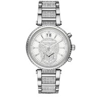 Michael Kors Sawyer 39mm Watch Silver| Harrods